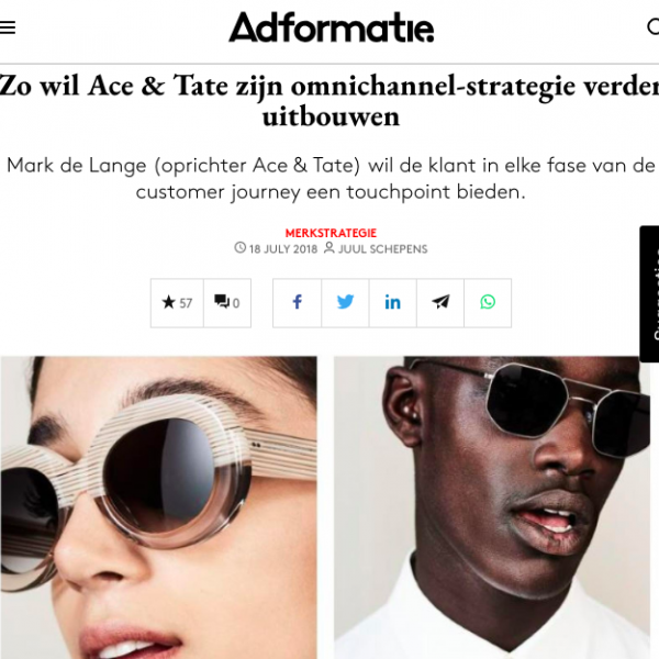 Adformatie - Ace & Tate's omnichannel strategy, July 2018