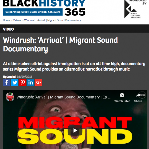 Black History Month - Migrant Sound, WE ARE Pi and Boiler Room, September 2018