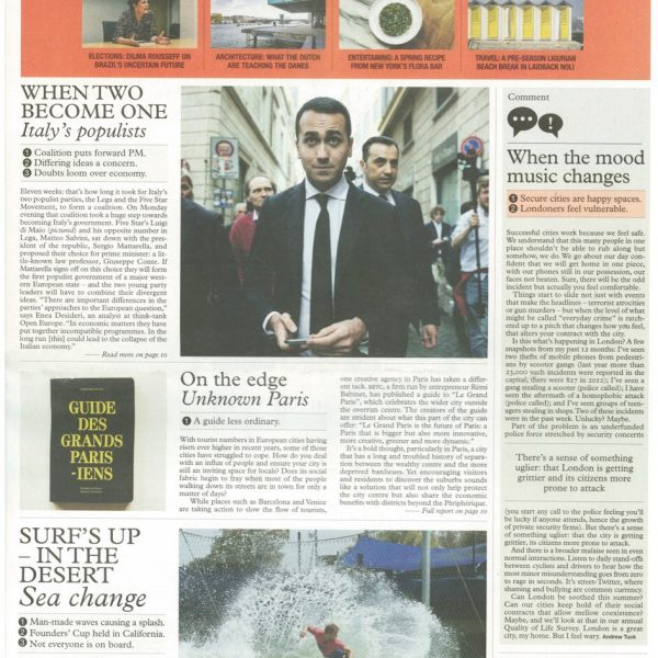 Monocle Weekly front page - Rémi Babinet, BETC Paris, May 2018
