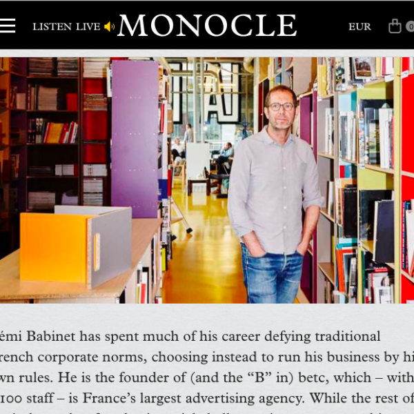 Monocle - Against the grain, Guide des Grands Parisiens, BETC Paris, July/August 2018