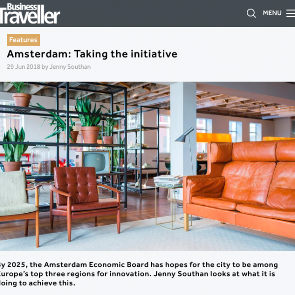 Business Traveller Asia-Pacific - Amsterdam as one of Europe's top three regions for innovation, Zoku, June 2018